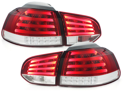 Focos Faros traseros LED VW Golf VI intermitente LED rojo/crista