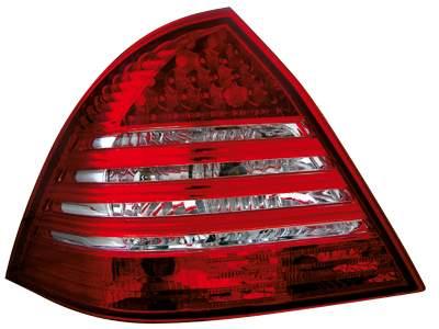 Focos traseros de LEDs para Mercedes Benz W203 C-Kl. 00-04 rojos/claros