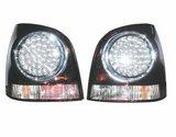 Focos traseros negros de LEDs para VW Polo 9N2 05-