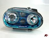 Focos delanteros VW golf IV Angel Eyes azules FK
