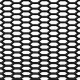 Rejilla ABS negra Hexagonal panel de abeja abierta 125x25cm