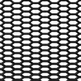 Rejilla ABS negra Hexagonal panel de abeja abierta 98x49cm