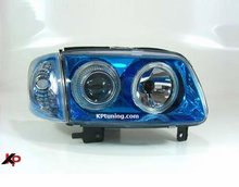 Focos delanteros VW Polo 6N2 Angel Eyes azules FK
