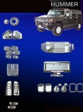 Kit embellecedores cromados Hummer
