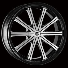 Kit 4 llantas Wolf Design Alloy Wheels GENESIS Black, Pol & Black Lip 9.5 x 22