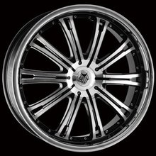 Kit 4 llantas Wolf Design Alloy Wheels VERMONT Polished & SS Lip 8.5 x 18