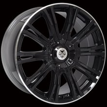 Kit 4 llantas Wolf Design Alloy Wheels VERMONT SPORT Black/ polished rim 8.5 x 20