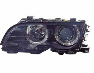 Focos delanteros Angel Eyes BMW E46 negros 98-2001