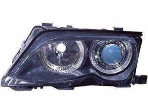 Focos delanteros Angel Eyes BMW E46 negros 2001-2005