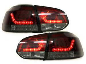 Focos Faros traseros LED VW Golf VI intermitente LED rojo/ahumad